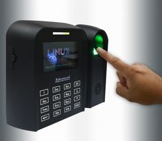 Fingerprint scanner for biometric recognition.. http://www.totalitech.com/
