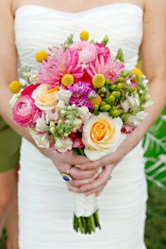 bright and textured bouquet