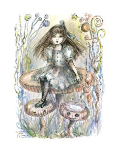 The Art of Paulina Cassidy  http://www.paulina.ws/prints/wonderingalice.html