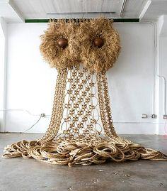Huge Macrame Owl.. wow