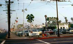 early '50s used car lot in Los Angeles