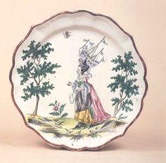 Piatto della manifattura di Milano di Felice Clerici, sec. XVIII. Milano, Museo delle Arti Decorative.