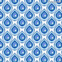 "Fabric pattern ""Raindrops"" (#71369) © Marla-und-Bob | www.stoffn.de"