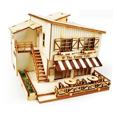 Wooden Model House Kits Korea Series- Scale models Cafe In House