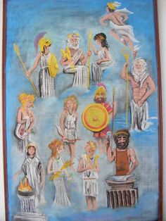 Waldorf ~ 5th grade ~ Ancient Greece ~ chalkboard drawing