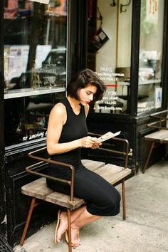 Le-Fashion-Blog-Simple-Summer-Side-Part-Bob-Red-Lips-Black-Tank-Dress-Nude-Sandals-Via-A-Cup-Of-Jo