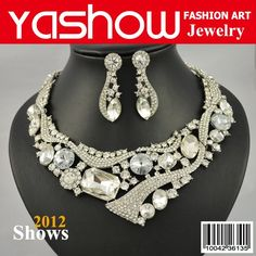 Wedding Jewelry Set, Bridal Jewelry Set,Fashion Rhineston Necklace&Earrings. 2011 News Designs Top Quality Free Shipping $31.98