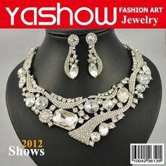 Wedding Jewelry Set, Bridal Jewelry Set,Fashion Rhineston Necklace&Earrings. 2011 News Designs Top Quality Free Shipping $31.98