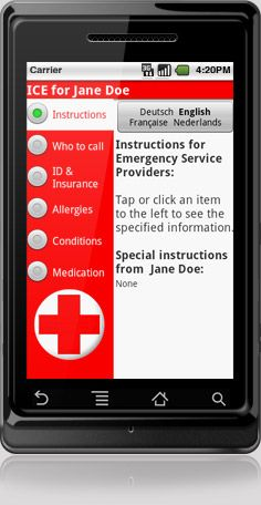 I.C.E. (In Case of Emergency) Android app allows quick access for emergency responders to vital information such as who to call, your ID, insurance info, medical conditions and medications. $3.99 Latest Android, Android Apps, Free Android, Android Phones, Apps For Moms, Emergency Responder, Bubble Games, Emergency Preparation, Geek Squad