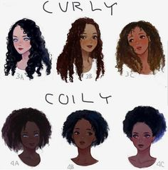 Drawing curly and coily hair