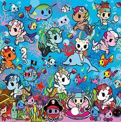 Tokidoki Cute Wallpaper Backgrounds, Cute Wallpapers, Iphone Wallpapers, Kawaii Art, Kawaii Anime, Fantasy Witch, Mermaid Pictures, Beautiful Fairies, Toki Doki