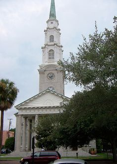 Independent Presbyterian Church, Savannah, GA.  I went to kindergarden here a zillion years ago and was excited to revisit recently for a church service.  Woah.  Talk about fire and damnation.  Not very uplifting.  The sanctuary is quite beautiful.  Nope, never to return!
