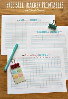How to Organize Bills {Bill Payment Tracker}