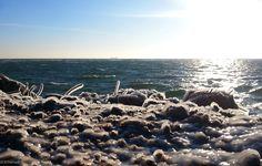 beach icebound #winter #beach #ice #poland #hel #sea #baltic #wild #nature