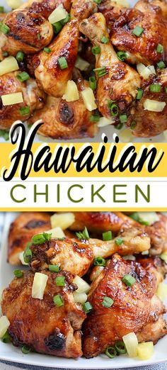 hawaiian food recipes This Baked Hawaiian Chicken is marinated in a ginger, honey, and pineapple juice mixture then baked to perfection. It's tender, moist and oh so flavourful. Pineapple Recipes, Pineapple Juice, Hawaiian Recipes, Hawaiian Dishes, Lime Juice, Baked Chicken, Chicken Recipes, Baked Pineapple Chicken, Ginger Chicken