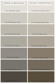 How To Choose The Perfect Grey Paint Color - Claire BrodyClaire Brody Designs. Agreeable Gray or Repose Gray. Interior Paint Colors, Paint Colors For Home, Paint Colours, Brown Paint Colors, Gray Brown Paint, Lowes Paint Colors, Taupe Colour, Interior Painting, Warm Grey Paint