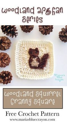 Woodland Squirrel Granny Square - Woodland Afghan Series - Free Crochet Pattern - Red for a British squirrel perhaps Crochet Afghans, Bag Crochet, Manta Crochet, Afghan Crochet Patterns, Crochet Crafts, Crochet Stitches, Free Crochet, Crochet Blankets, Baby Blankets