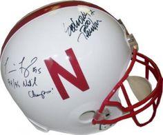 Eric Crouch & Tommie Frazier Signed Full-Size Replica Helmet with Inscriptions #SportsMemorabilia #NebraskaCornhuskers