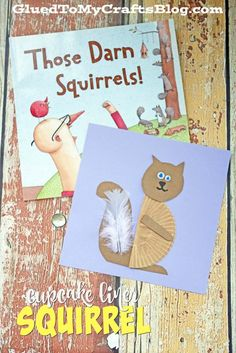 Cupcake Liner Squirrel - Kid Craft