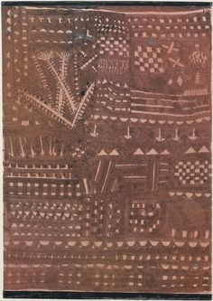 In the Manner of a Leather Tapestry, Paul Klee (German (born Switzerland), Münchenbuchsee Muralto-Locarno), Ink and spattered tempera on paper, mounted on cardboard Modigliani, Tempera, Klimt, Matisse, Vintage Wall Art, Vintage Walls, Paul Klee Art, Statues, Wassily Kandinsky
