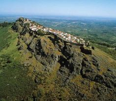 Marvão, Alto Alentejo, Portugal. Aerial view of one of the most beautiful towns of that country.