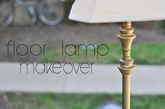 Decorating Through Dental School: DIY Tutorials - DIY Brass Floor Lamp Redo!! Upcycle that nasty lamp with a clean makeover! decorate on a budget