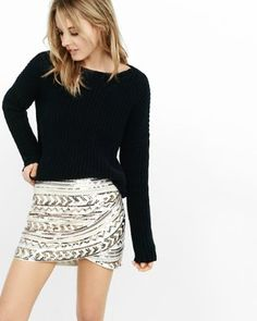 high waisted sequin mini skirt from EXPRESS