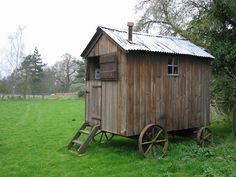 If I just lift my shed up off the ground, add some wheels and a tin roof,..then Voila!