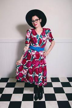 80er Jahre Tupil Kleid  Medium von ScarletSweater auf Etsy