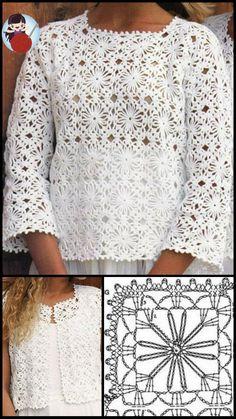 Crochet Motif, Crochet Stitches, Knitting, Diy, Women, Fashion, Crochet Clothes, Made By Hands, Tejidos