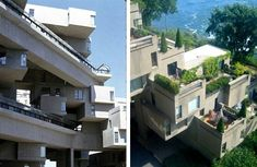 Canadian architect Moshe Safdie designed and built this extraordinary experimental housing complex made up of modular concrete units for the 1967 World Expo in Montreal. Named Habitat 67, the apartment complex was Safdie's attempt to redesign urban living,