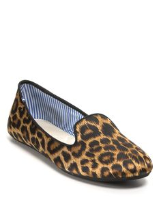 Charles Philip leopard print loafers