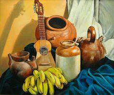 Cuadros Modernos Pinturas y Dibujos : Bodegones Musicales al Óleo (Pintura y Música) Mexican Art, Love Art, Still Life, Decoupage, Art Drawings, Artwork, Pictures, Crafts, Painting