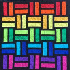 "Fun Strip Quilt, Jelly Roll Friendly, 40"" x 52"" | Craftsy"
