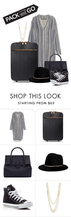 """Untitled #497"" by syanindhtdonner ❤ liked on Polyvore featuring Raquel Allegra, STELLA McCARTNEY, Versace, Janessa Leone, Converse and Gorjana"