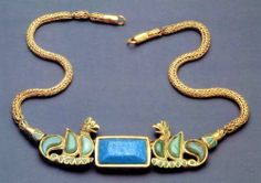 Sarmatian Gold Necklace with turquoise. #SarmatianGold #ScythianJewels #VonGiesbrechtJewels