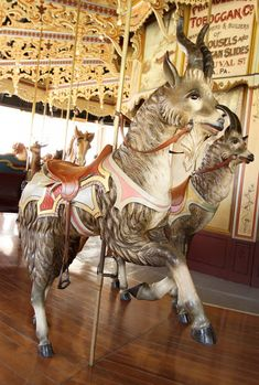 goat, Kit Carson County Fairgrounds Carousel; Burlington, Colorado