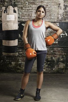 Marlen Esparza - one of USA's first competitors in women's boxing, new to the Olympics this year!   Photo: Courtesy of Covergirl