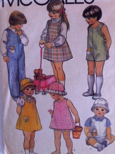 80's Vintage McCall's Pattern 7938  Toddler by crazyforstitching, $2.00