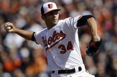 O's win! Jake Arrieta pitches Orioles to Opening Day win over Twins. // courtesy AP Images