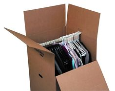 Use a wardrobe box that is specifically designed to store all your hanging items.