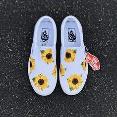 Tags: Sunflower Vans Custom Vans Custom Shoes Floral Vans Custom Sneakers S Vans Sneakers, Tenis Vans, Sneakers Mode, Slip On Sneakers, Slip On Shoes, Custom Vans Shoes, Custom Sneakers, Custom Slip On Vans, Custom Made Vans