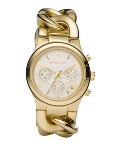 Chain-Link Watch, Shiny Golden by Michael Kors at Neiman Marcus.