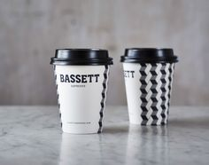 Bassett Espresso on Packaging of the World - Creative Package Design Gallery Cool Packaging, Food Packaging Design, Packaging Design Inspiration, Packaging Ideas, Paper Cup Design, Cafe Cup, Coffee Cup Design, Coffee Branding, Coffee Cafe