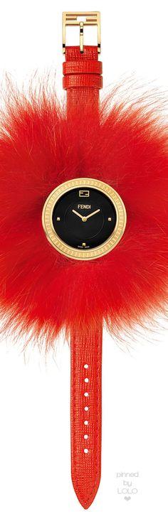 Fendi Timepieces 36mm Fendi My Way Watch w-Removable Fur Glamy | LOLO❤︎