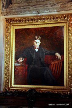A rare portrait of a young William Randolph Hearst in his private office.