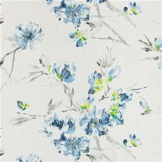 oriental flower - indigo