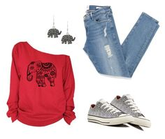 """Elephants"" by soleuza ❤ liked on Polyvore featuring Frame Denim, Jewel Exclusive and Converse"