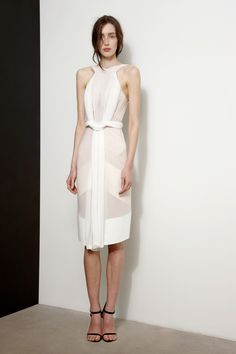 Dion Lee SS13, white high neck dress