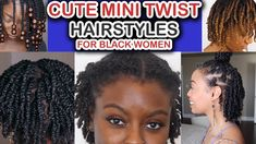 Cute Mini Twist For Great Protective Natural Hairstyles   AAHV Twist Hairstyles, Black Women Hairstyles, Fashion Hairstyles, Mini Twists, Girly Things, Girly Stuff, Hair Videos, Black Girl Magic, Natural Hair Styles